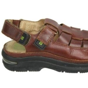 STRIDE RITE Shoes - STRIDE RITE Brown Leather Fisherman Sandals 9W